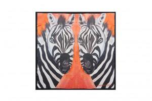 Groovy Zebra Black Border 90x90