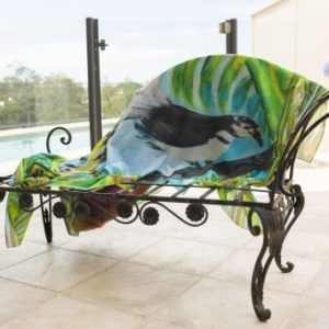 Happy Fantail sarong from Vibrant Silks